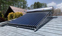 真空管ヒートパイプ式太陽熱温水器 スーパーソーラー 屋根設置型 施工例